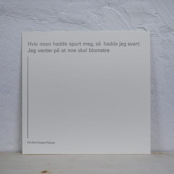 Salgsbilde Caroline Kaspara Palonen