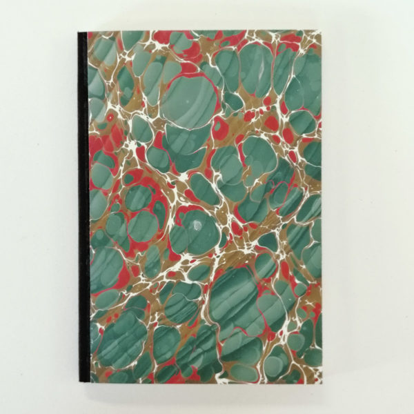 Notatbok semi hardcover - håndmarmorert papir.